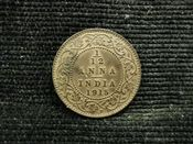 India, George V, 1/12th Anna 1915, VF, JAT535
